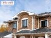 облицовочный кирпич или изделия из искусственного камня. декоративные функции. украсить фасад. красивый дом.